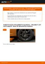 Como mudar rolamento da roda da parte dianteira em Peugeot 207 hatchback - guia de substituição