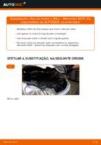 Como mudar óleo do motor e filtro em Mercedes W211 - guia de substituição