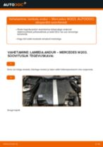 Lambda-andur vahetus: pdf juhend MERCEDES-BENZ C-CLASS
