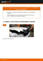 Üzemanyagszűrő-csere Mercedes W211 gépkocsin – Útmutató