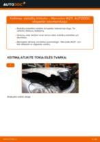 Kaip pakeisti gale ir priekyje Stabdžių Kaladėlės MERCEDES-BENZ E-CLASS (W211) - instrukcijos internetinės