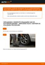 Hoe onderste draagarm van de achterophanging vervangen bij een Mercedes W203 – vervangingshandleiding