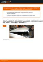 Changement Bougies d'Allumage MERCEDES-BENZ C-CLASS : manuel d'atelier