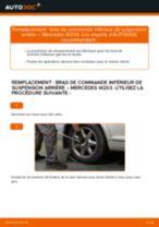 Comment changer : bras de commande inférieur de suspension arrière sur Mercedes W203 - Guide de remplacement