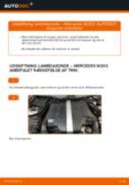 Skifte Lambda sensor MERCEDES-BENZ C-CLASS: guider online