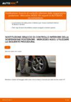 Cambio Braccetto sospensione posteriore e anteriore MERCEDES-BENZ da soli - manuale online pdf