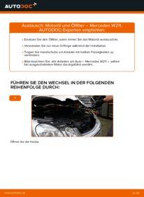 Wie der Wechsel durchführt wird: Ölfilter E 220 CDI 2.2 (211.006) Mercedes W211 tauschen