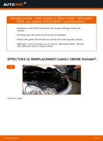 Comment effectuer un remplacement de Filtre à Huile sur E 220 CDI 2.2 (211.006) Mercedes W211