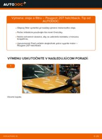 Ako vykonať výmenu: Olejový filter na 1.4 HDi PEUGEOT 207 (WA_, WC_)