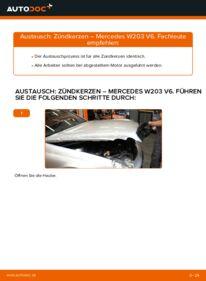Wie der Wechsel durchführt wird: Zündkerzen C 220 CDI 2.2 (203.006) Mercedes W203 tauschen