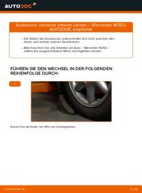 Wie der Wechsel durchführt wird: Querlenker C 220 CDI 2.2 (203.006) Mercedes W203 tauschen