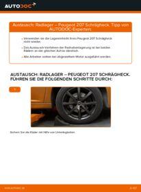 Wie der Wechsel durchführt wird: Radlager 1.4 HDi PEUGEOT 207 (WA_, WC_) tauschen