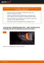 Wie Kabinenluftfilter beim OPEL ZAFIRA B (A05) wechseln - Handbuch online