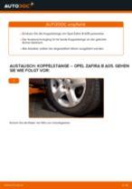 Wie Opel Zafira B A05 Koppelstange vorne wechseln - Schritt für Schritt Anleitung