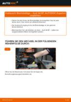 Einbau von Bremssteine beim AUDI A4 (8EC, B7) - Schritt für Schritt Anweisung