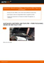 Wie Ford Focus MK2 Benzin Motoröl und Ölfilter wechseln - Anleitung