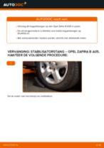 Hoe stabilisatorstang vooraan vervangen bij een Opel Zafira B A05 – vervangingshandleiding