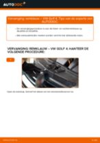 Hoe remklauw achteraan vervangen bij een VW Golf 4 – vervangingshandleiding