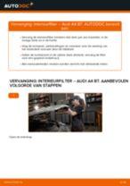 Hoe interieurfilter vervangen bij een Audi A4 B7 – vervangingshandleiding