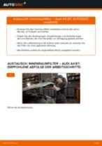 Ersetzen von Filter Innenraumluft AUDI A4: PDF kostenlos