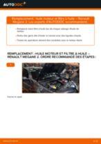 Filtre à huile RENAULT MEGANE II A trois volumes (LM0/1_) | PDF tutoriel de remplacement