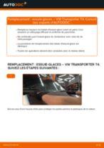 Comment changer : essuie-glaces avant sur VW Transporter T4 - Guide de remplacement