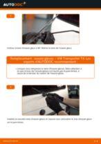 Comment changer : essuie-glaces arrière sur VW Transporter T4 - Guide de remplacement