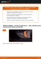 OPEL Zafira Life (K0) tutoriel de réparation et de maintenance
