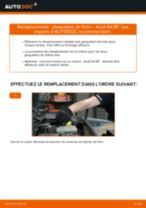 Montage Kit de plaquettes de frein AUDI A4 (8EC, B7) - tutoriel pas à pas