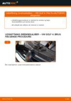Udskift bremsekaliber bag - VW Golf 4   Brugeranvisning
