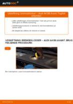 Udskift bremseklodser for - Audi A4 B6 Avant   Brugeranvisning