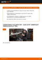 Udskift pollenfilter - Audi A4 B7   Brugeranvisning
