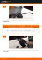 Cómo cambiar y ajustar Escobillas de parabrisas VW TRANSPORTER: tutorial pdf