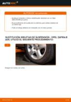 Cambiar Bieletas de Suspensión OPEL ZAFIRA: manual de taller