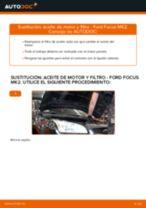 Cómo cambiar: aceite y filtro - Ford Focus MK2 gasolina | Guía de sustitución