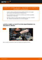 Cómo cambiar: pastillas de freno de la parte delantera - Audi A4 B7 | Guía de sustitución