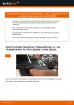Come cambiare spazzole tergicristallo della parte anteriore su VW Transporter T4 - Guida alla sostituzione