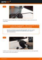 Come cambiare spazzole tergicristallo della parte posteriore su VW Transporter T4 - Guida alla sostituzione