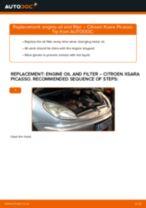 PDF replacement tutorial: Oil filter CITROËN XSARA PICASSO (N68)