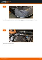 How to change Brake caliper carrier front left right on Peugeot 308 SW - manual online