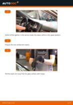 DIY AUDI change Wiper blades front and rear - online manual pdf