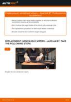 Changing Wiper Blades AUDI A4: workshop manual