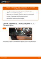 Hur byter man och justera Vindrutetorkare VW TRANSPORTER: pdf instruktioner