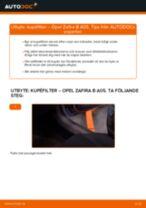 PDF guide för byta: Kupeluftfilter OPEL ZAFIRA B (A05)