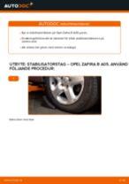 Byta stabilisatorstag fram på Opel Zafira B A05 – utbytesguide