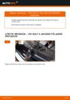 Byta bromsok bak på VW Golf 4 – utbytesguide