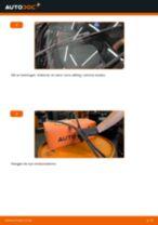 Slik bytter du vindusviskere fremme på en Skoda Octavia 1Z5 – veiledning
