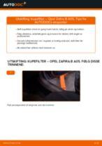 Slik bytter du kupefilter på en Opel Zafira B A05 – veiledning