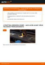 Slik bytter du bremseklosser fremme på en Audi A4 B6 Avant – veiledning