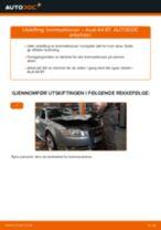 Slik bytter du bremseklosser bak på en Audi A4 B7 – veiledning